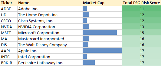 ESG Stock Portfolio Top 10
